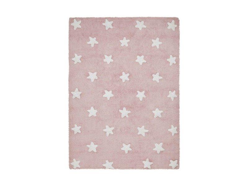 Lorena Canals Teppich Sterne 120 x 160 cm - rosa