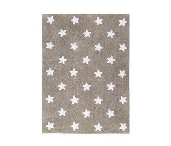Lorena Canals Teppich Sterne leinen