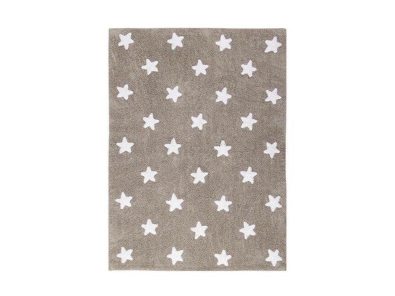 Lorena Canals Teppich Sterne 120 x 160 cm - leinen