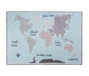 Lorena Canals Teppich Weltkarte Vintage