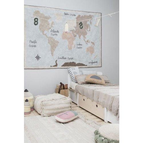 Lorena Canals Teppich Weltkarte vintage 140 x 200 cm