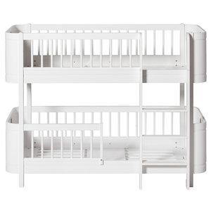 Oliver Furniture Wood Mini+ halbhohes Etagenbett weiß