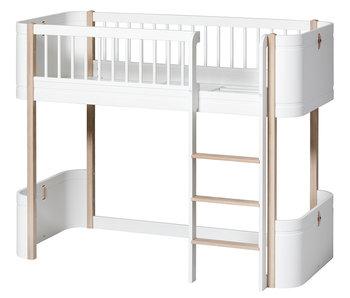 Oliver Furniture Wood Mini+ low loft bed, white-oak