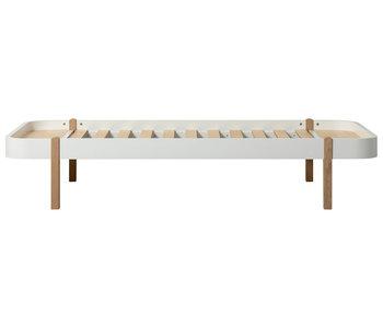 Oliver Furniture Wood Lounger 90 x 200 cm, white-oak