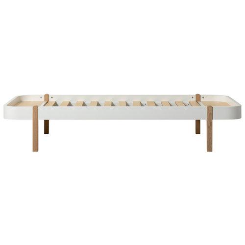 Oliver Furniture Wood Lounger 90 x 200 cm, weiß-Eiche