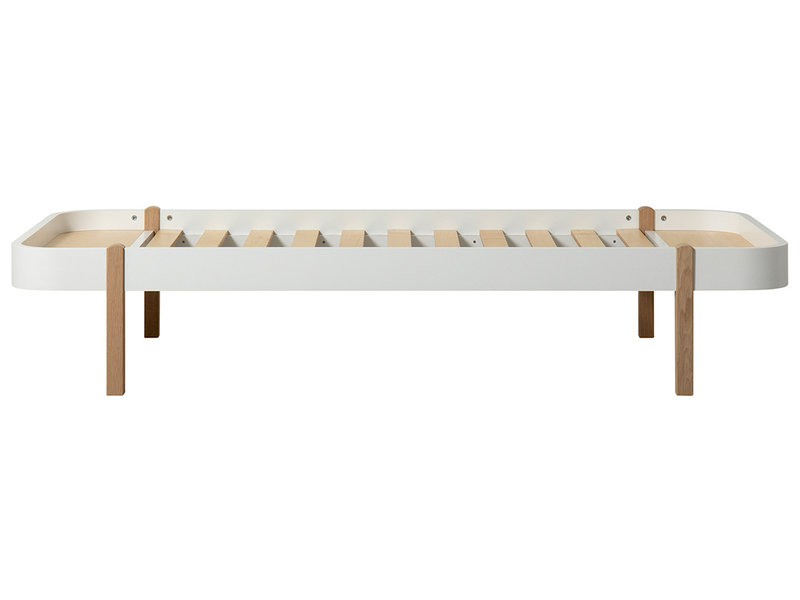 Oliver Furniture Wood Lounger 90 x 200 cm, weiß-Eiche