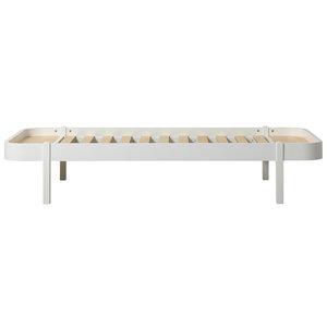 Oliver Furniture Wood Lounger 90 x 200 cm, white