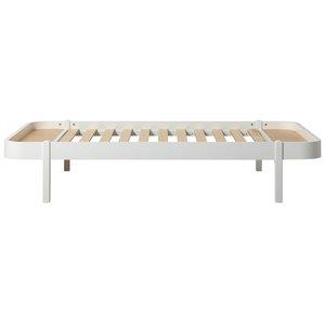 Oliver Furniture Wood Lounger 120 x 200 cm, white
