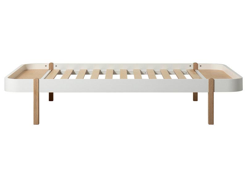 Oliver Furniture Wood Lounger 120 x 200 cm, weiß-Eiche