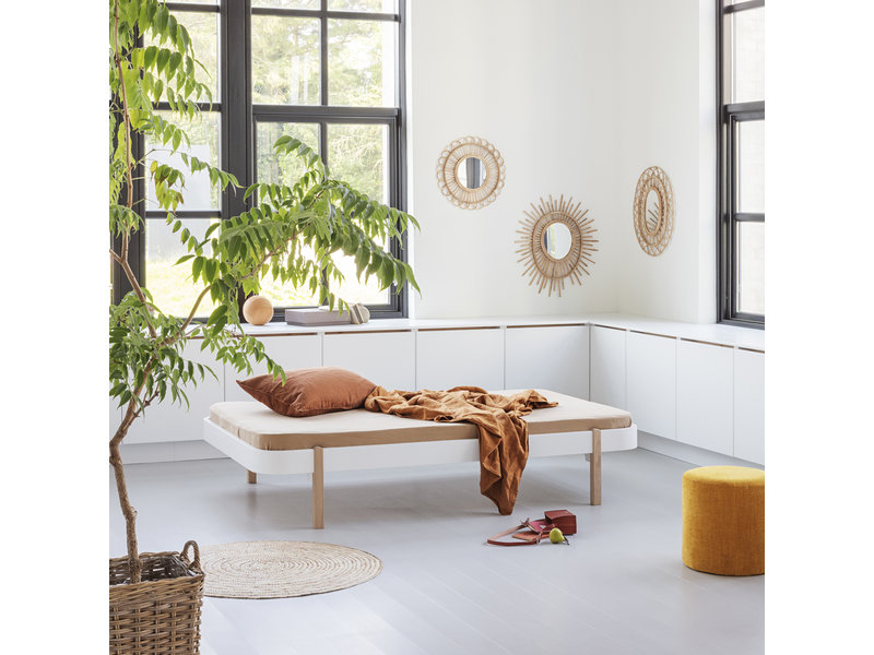 Oliver Furniture Wood Lounger 120 x 200 cm, white-oak