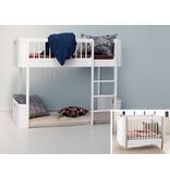 Oliver Furniture Umbau Wood Mini+ Basic zum Mini+ halbhohen Hochbett weiß