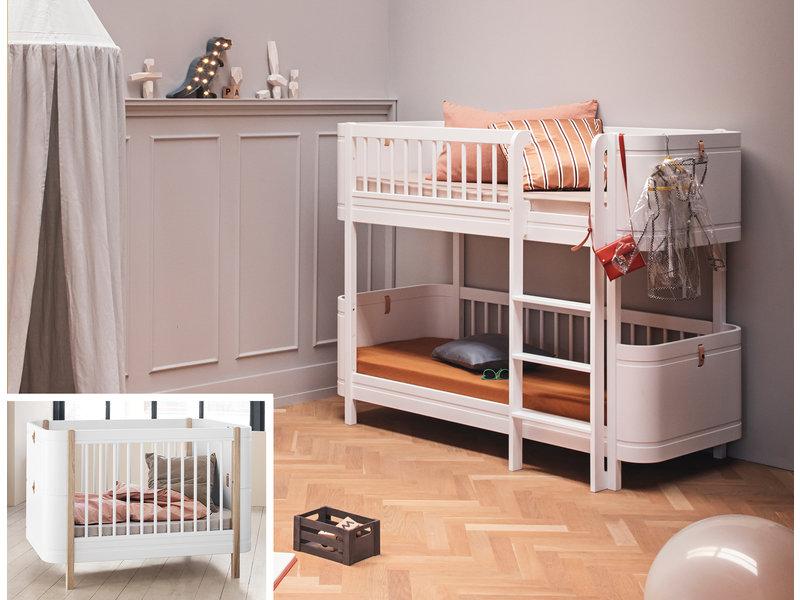 Oliver Furniture Umbau Wood Mini+ Basic zum Mini+ halbhohen Etagenbett weiß