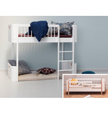 Oliver Furniture Umbau Wood Mini+ Juniorbett zum Mini+ halbhohen Hochbett weiß