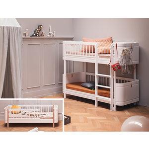Oliver Furniture Umbau Wood Mini+ Juniorbett zum Mini+ halbhohen Etagenbett weiß