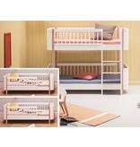 Oliver Furniture Umbau Wood von 2 Mini+ Juniorbetten zum Mini+ halbhohen Etagenbett weiß/Eiche