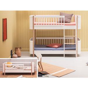 Oliver Furniture Umbau Wood Mini+ Juniorbett zum Mini+ halbhohen Etagenbett weiß/Eiche