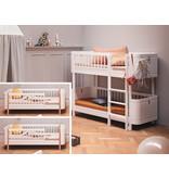 Oliver Furniture Umbau Wood 2 Mini+ Juniorbetten zum Mini+ halbhohen Etagenbett weiß