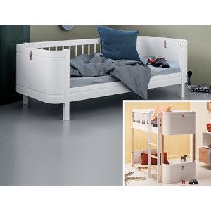 Oliver Furniture Umbau Wood Mini+ halbhohes Hochbett zum Mini+ Juniorbett weiß