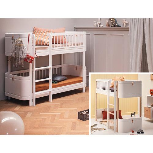 Oliver Furniture Umbau Wood Mini+ halbhohes Hochbett zum Mini+ halbhohen Etagenbett weiß