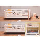 Oliver Furniture Umbau Wood Mini+ halbhohes Etagenbett zu zwei Mini+ Juniorbetten weiß/Eiche