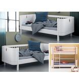 Oliver Furniture Umbau Wood Mini+ halbhohes Etagenbett zu zwei Mini+ Juniorbetten weiß
