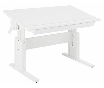 LIFETIME Höhenverstellbarer Kinderschreibtisch mit neigbarer Tischplatte 120 x 67 weiß