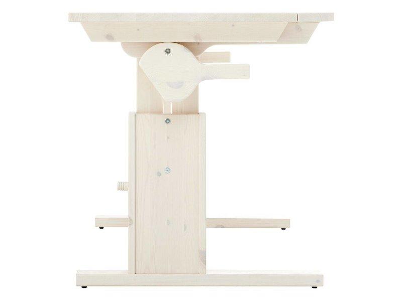 LIFETIME Höhenverstellbarer und neigbarer Schreibtisch 120 in weiß