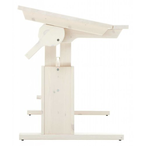 LIFETIME Height and slanted adjustable desk 120 in white