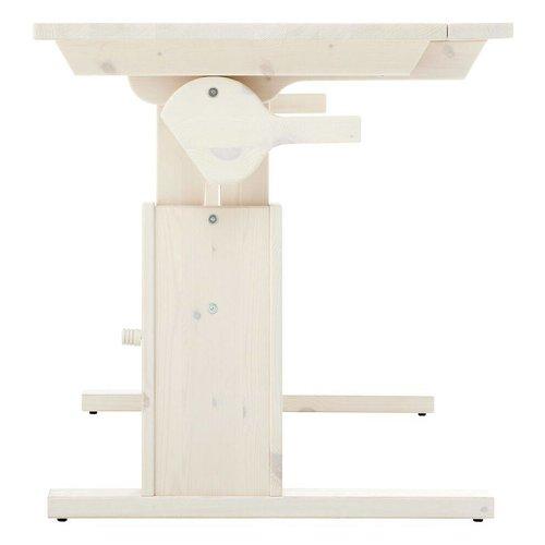 LIFETIME Height and slanted adjustable desk 120 in whitewash