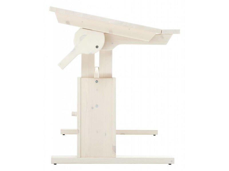 LIFETIME Kinderschreibtisch mit neigbarer Tischplatte 120 x 67 Whitewash