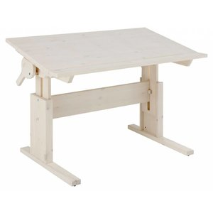 LIFETIME Height and slanted adjustable desk whitewash