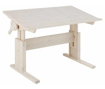 LIFETIME Höhenverstellbarer Kinderschreibtisch mit neigbarer Tischplatte 120 x 67 Whitewash