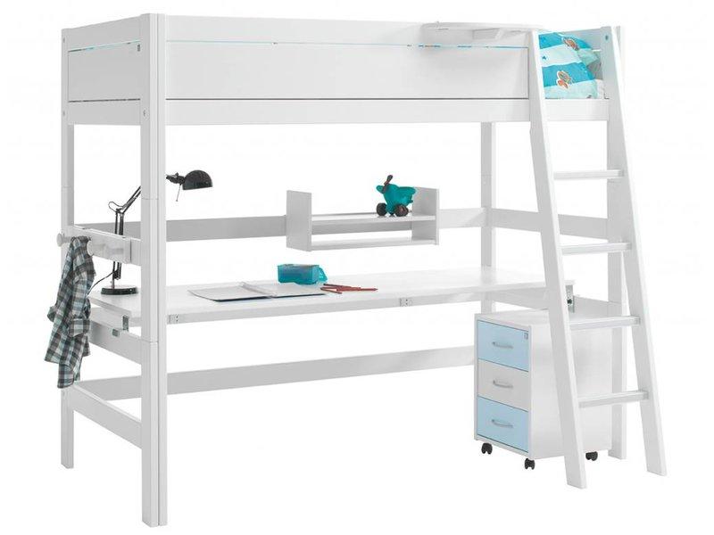 LIFETIME Arbeitsplatte für das Hochbett in weiß