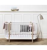 Oliver Furniture Baby- und Kinderbett Wood Collection, weiß-Eiche