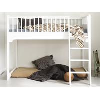 Classic low loft junior bed white 90 x 160 cm