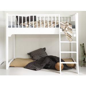 Oliver Furniture Classic halbhohes Juniorbett weiß 90 x160  cm