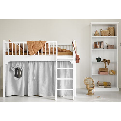 Oliver Furniture Classic low loft bed 90 x 200 cm in white