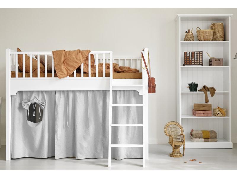 Oliver Furniture Halbhohes Hochbett Seaside weiß 90 x 200 cm