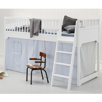 Classic low loft bed white