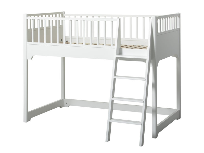 Oliver Furniture Junior Bettsofa weiß 90 x160  cm