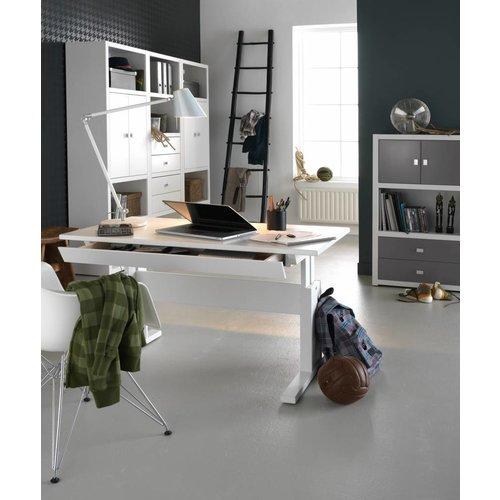 LIFETIME Height adjustable children´s desk whitewash