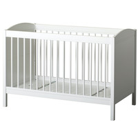 Seaside Lille+ Basic baby and toddler bed white