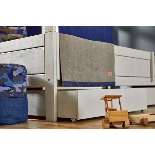 LIFETIME Großer Bettkasten für das Basisbett in Whitewash