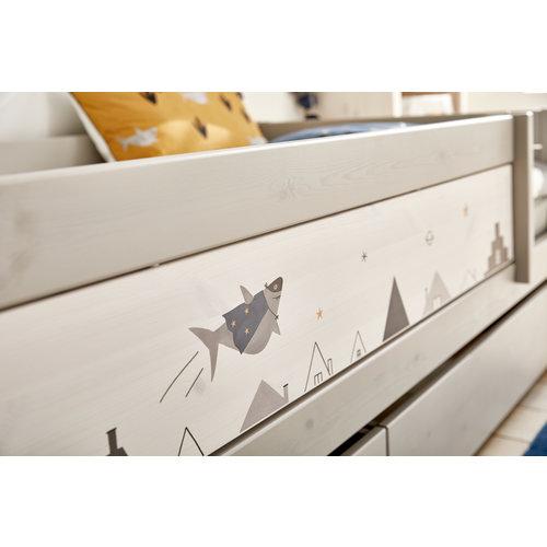 LIFETIME Basic bed 90 x 200 cm greywash