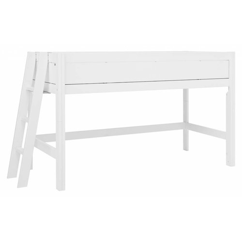 LIFETIME Half height bed four closed sides white
