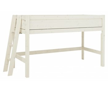 LIFETIME Half height bed four closed sides Whitewash