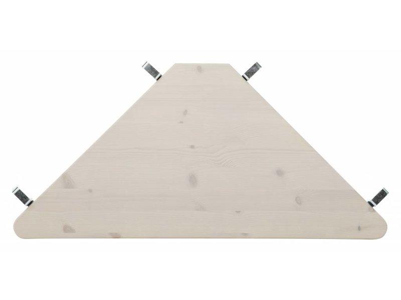 LIFETIME Halbhohes Bett 90 x 200 mit gerader Leiter in Whitewash