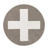 LIFETIME Round carpet Grey X ø133 cm