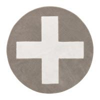 Round carpet Grey X