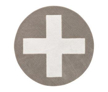 LIFETIME Round carpet Grey X